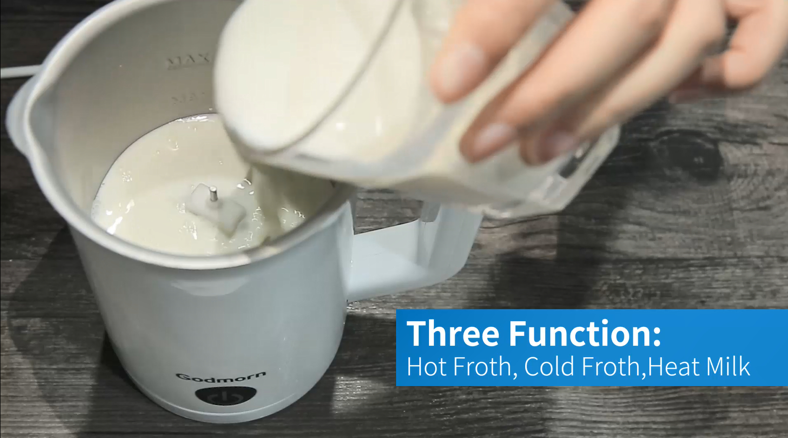 Godmorn 3 in 1 Electric Milk Frother